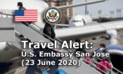 Travel Alert (June 23, 2020)