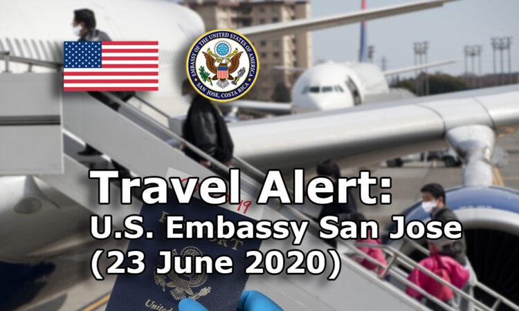 Travel Alert (June 23, 2020)