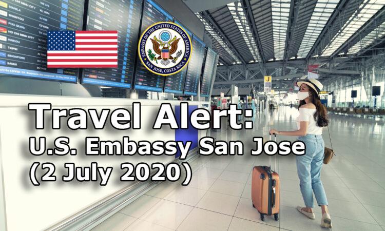 Travel Alert (July 2, 2020)