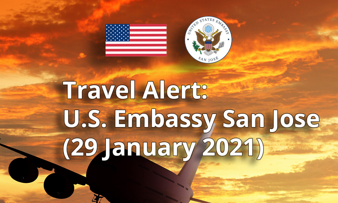 Travel Alert (January 29 2021 )