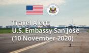 Travel Alert -November 10, 2020