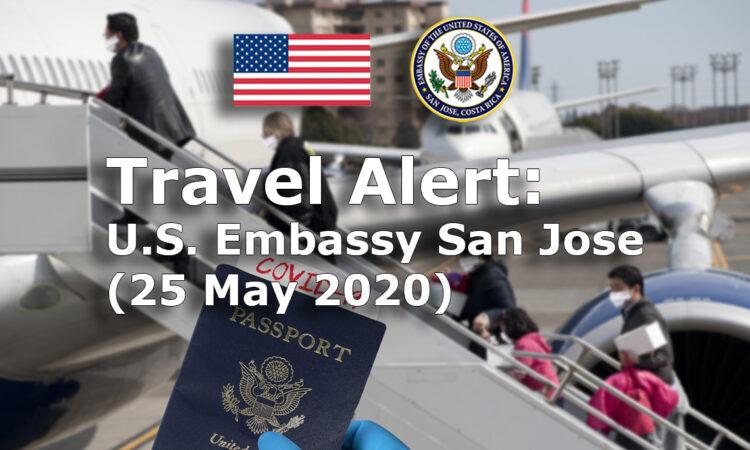 Travel Alert - May 25, 2020