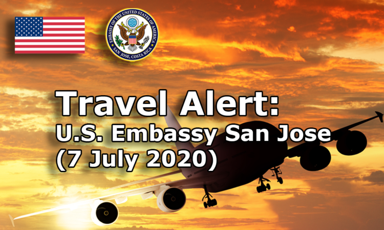travel alert -July 7, 2020