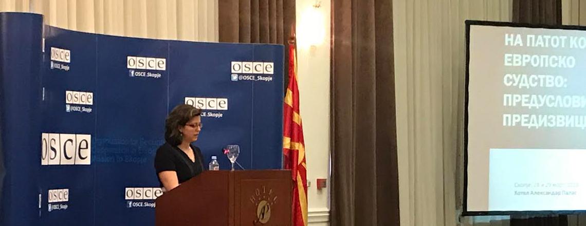 Говор на в.д. амбасадор Микаела Швајцер-Блум на конференцијата за Денот на правосудството
