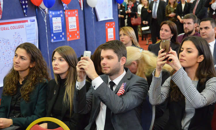 Young audience watched as the results came in throughout the morning
