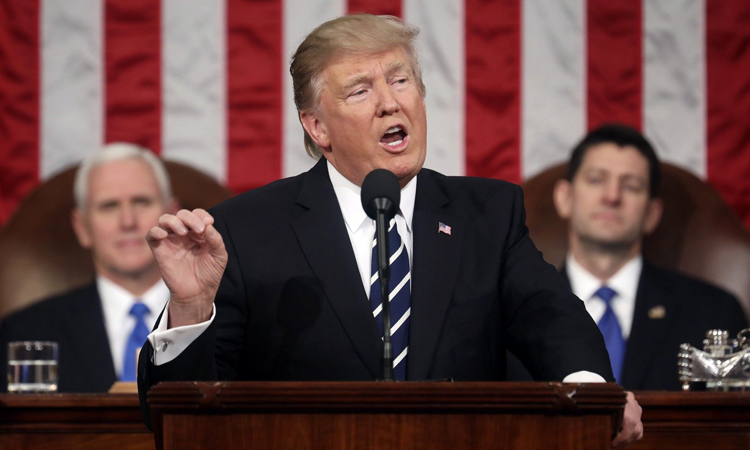 Presidenti Trump i drejtohet Kongresit