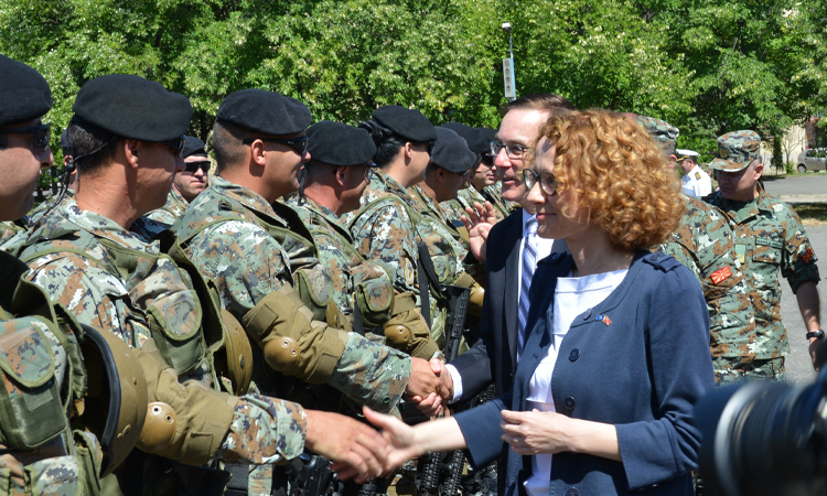 Send-off ceremony for the Macedonian Army participants to Saber Guardian 2017 exercise