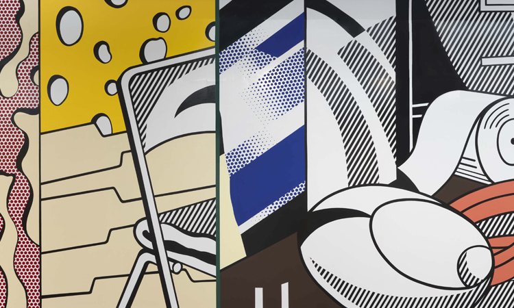 Greene Street Mural, 1983, by Roy Lichtenstein (© Estate of Roy Lichtenstein. Photo courtesy of Gagosian Gallery)
