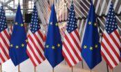 U.S.-EU flags