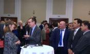 """Aмбасадорот Бејли, заедно со амбасадорката на ОБСЕ Суомалаинен, учествуваа на затворањето на конференцијата """"Ден на правосудството,"""" организирана од Здружението на судии на Македонија."""