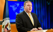 U.S. Secretary of State Mike Pompeo delivers remarks on the release of the 2017 International Religious Freedom Report, at the U.S. Department of State in Washington, D.C., on May 29, 2018. [State Department photo/ Public Domain]