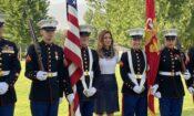Ambassador Byrnes and the Marine Corps Detachment Skopje