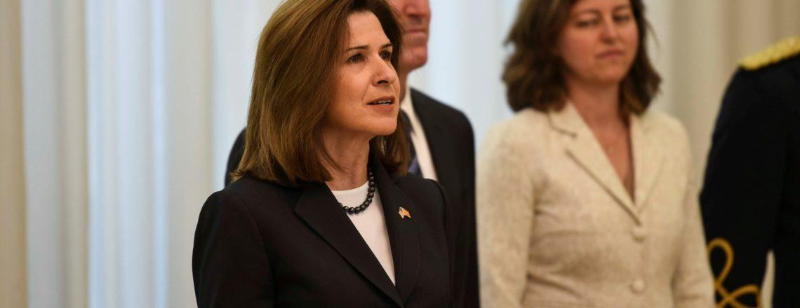 Обраќање на амбасадорката Брнз на церемонијата на предавање на акредитивни писма