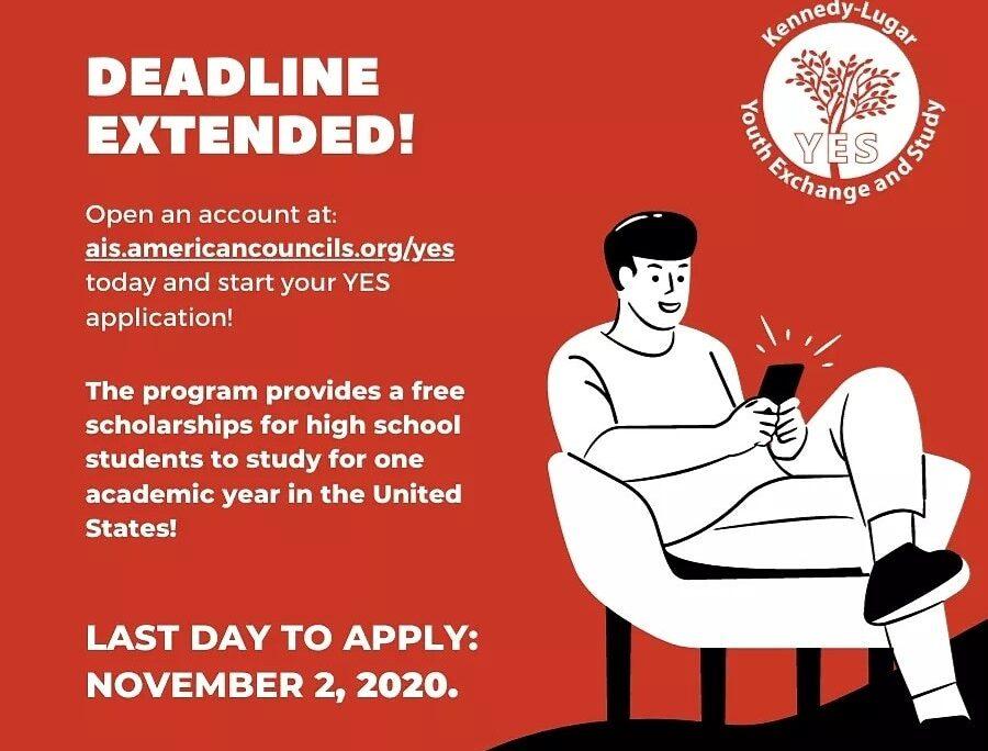 YES Deadline extended to Nov 2 2020