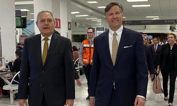 Ambassador Landau at Airport