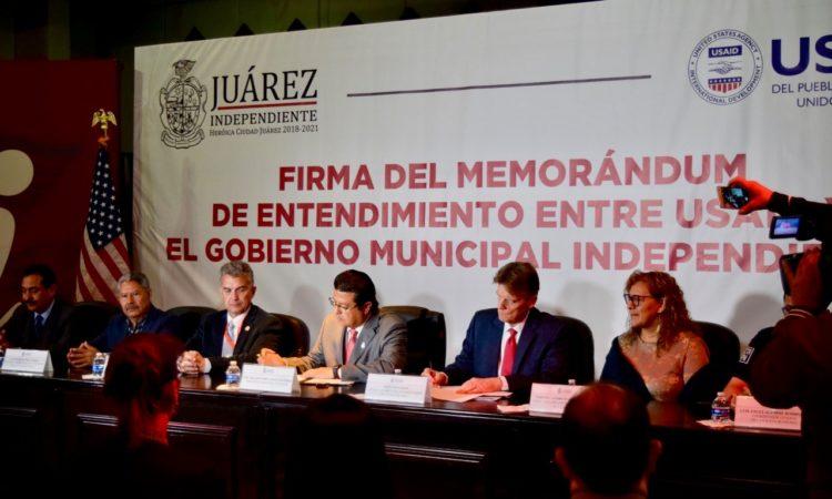 Firma de Memorandum de Entendimiento entre USAID y Ciudad Juárez