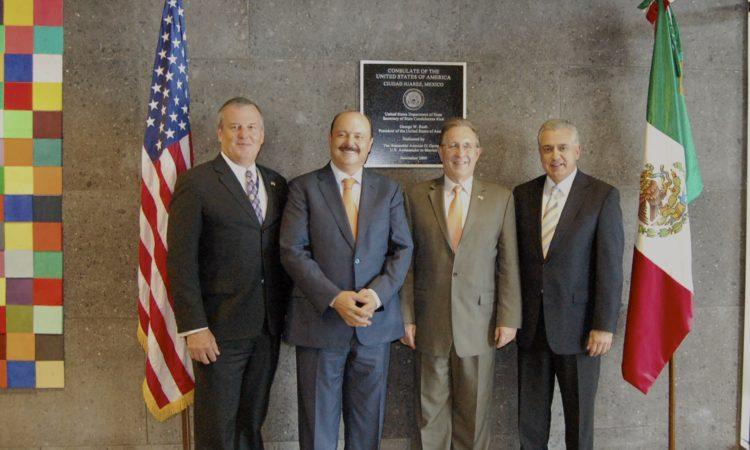 Embajador de EEUU se reúne con Gobernador de Chihuahua y Presidente Municipal de Juárez