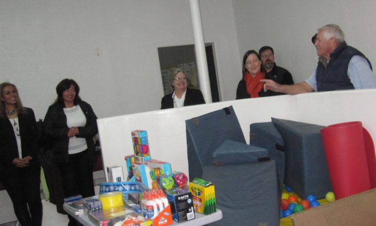 Donation of furniture and school supplies