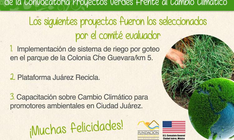 Resultados de Proyectos Verdes