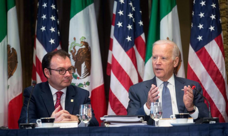 Mexico's Secretary of the Treasury, Luis Videgaray, and U.S. Vice-President, Joe Biden, headed the HLED meeting.