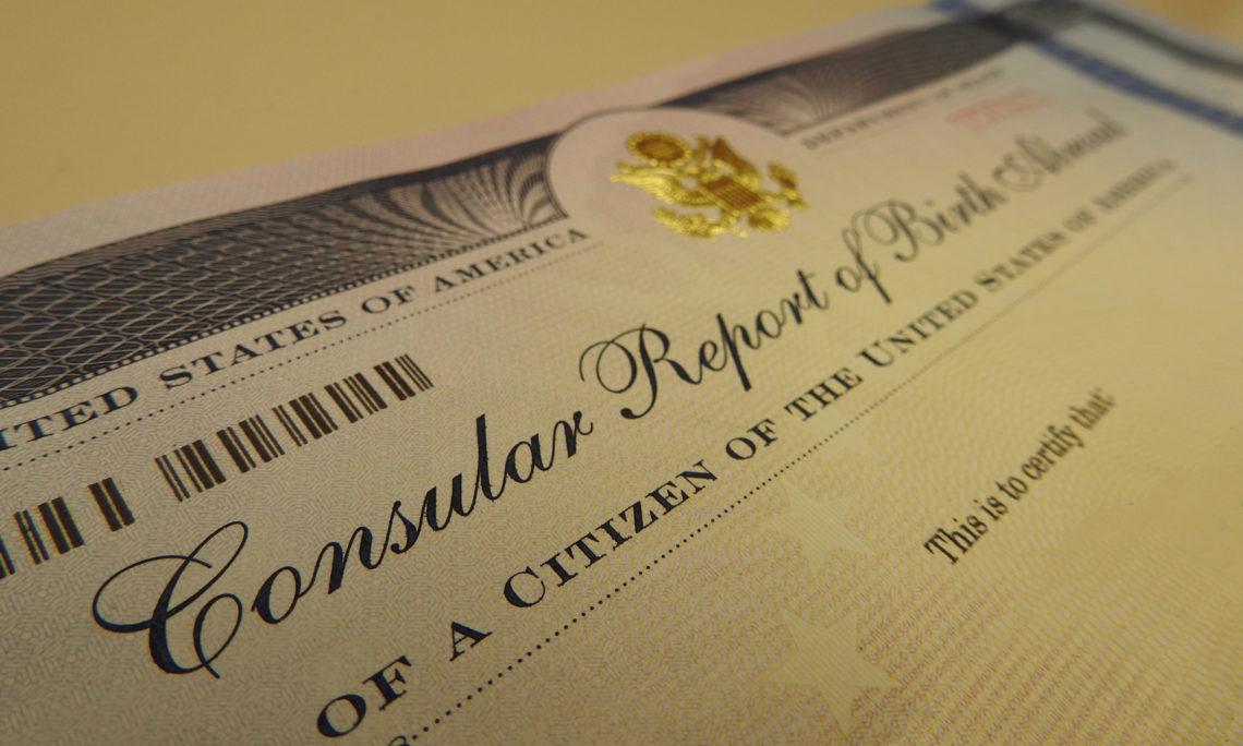 Reporte Consular de Nacimiento (CRBA) | Embajada y