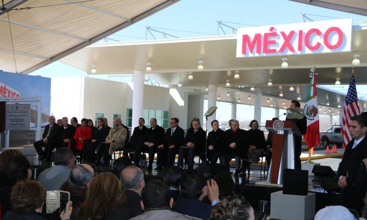 Inauguración del Puerto de Entrada Tornillo-Guadalupe