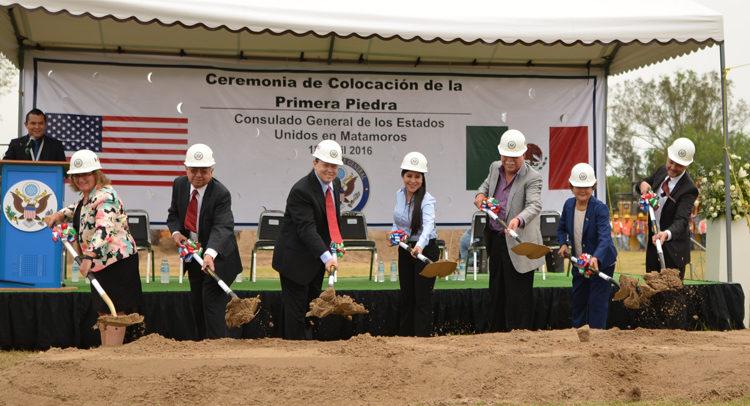 Colocación de primer piedra Consulado General de Estados Unidos - Matamoros