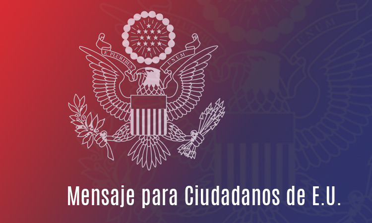 Mensaje para ciudadanos de E.U.