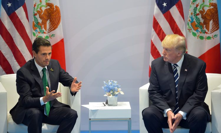 Presidents Trump and Pena Nieto