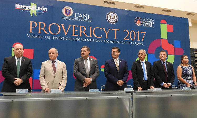 Representatives during the inauguration of the Summer Program of Scientific and Technological Research