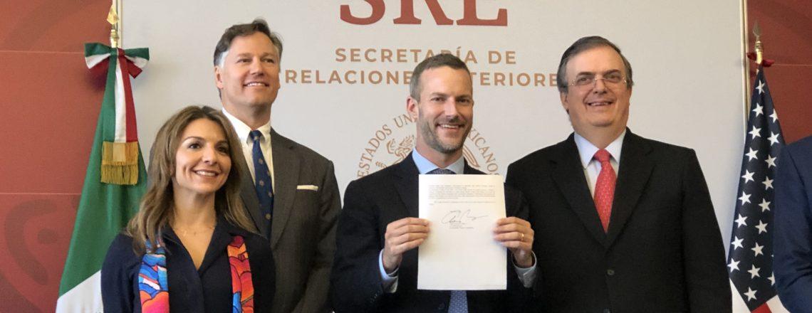 Adam Boehler, CEO de DFC concluye exitosa visita a México – firma carta de interés