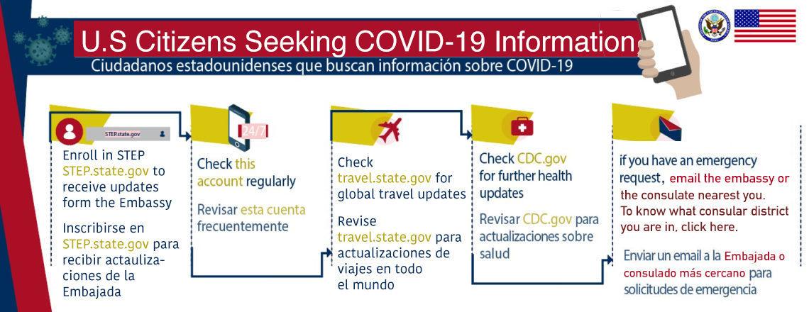 Información sobre COVID-19 para ciudadanos estadounidenses en México
