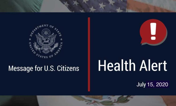 Health Alert July 15, 2020