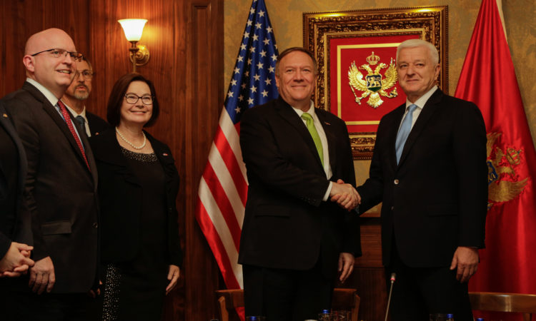Secretary Pompeo with Prime Minister Markovic