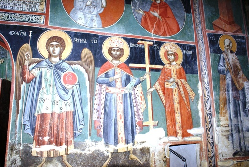 The fresco in the Piva Monastery