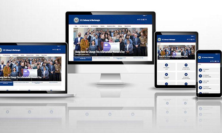 Internet stranica na ekranima različitih uređaja