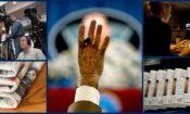 Collage of photos representing media