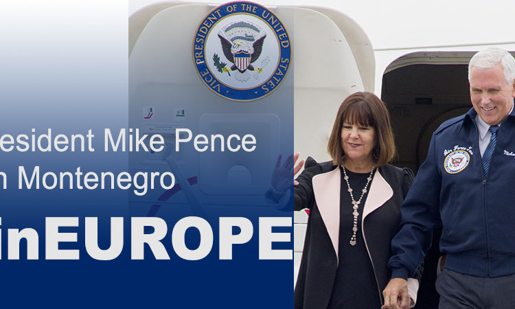 Vice President Mike Pence and Second Lady Karen Pence waving