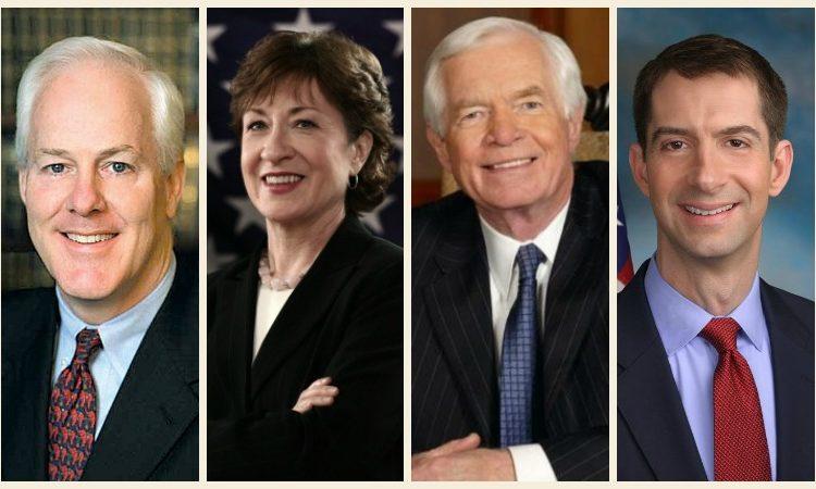 Senator Roy Blunt (R-MO), Senator John Cornyn (R-TX), Senator Thad Cochran (R-MS), Senator Susan Collins (R-ME), Senator Tom Cotton (R-AR), and Senator Thom Tillis (R-NC)