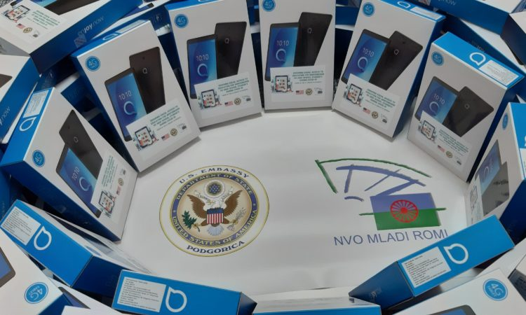 U.S. Embassy in Podgorica Donates Tablets for Roma High School Students