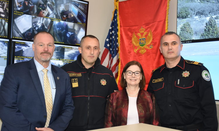 Ambassador Reinke Presents U.S. Government Donation to Border Police
