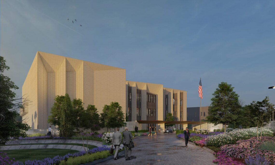 Construction of New Campus for U.S. Embassy in Podgorica Rendering, Looking Northeast