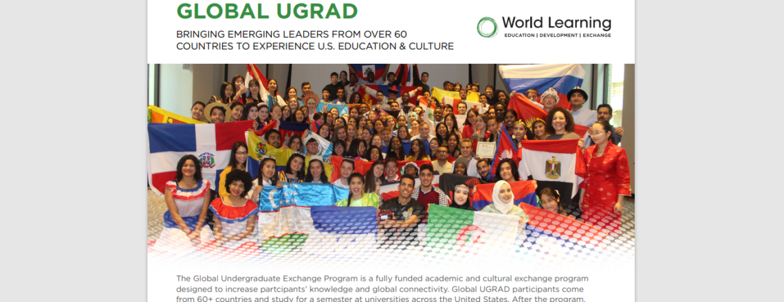 Competition for Global UGRAD Scholarship OPEN