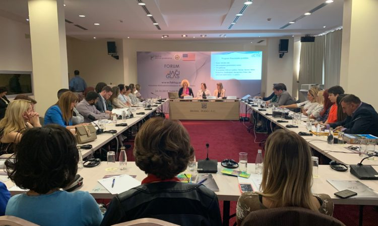 Ambassador Reinke participated in the Fund for Active Citizenship (faKT)'s Civil Society Forum