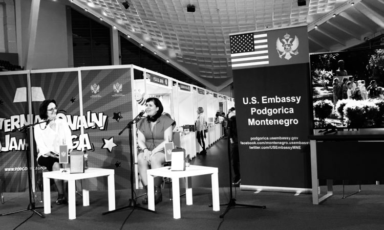 Author Shelly Oria at Fifth International Podgorica Bookfair