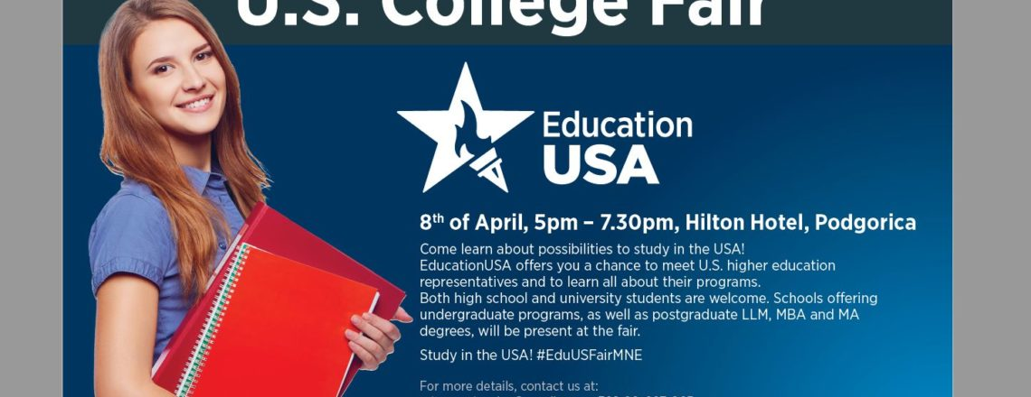 EducationUSA and US Embassy Podgorica Host U.S. College Fair