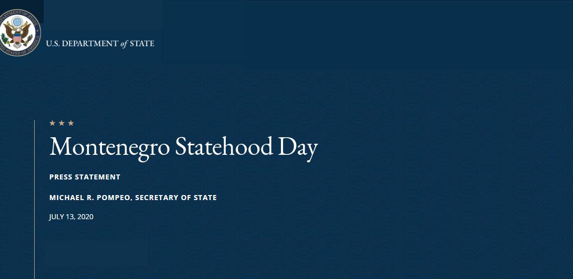 Statehood Day Pompeo