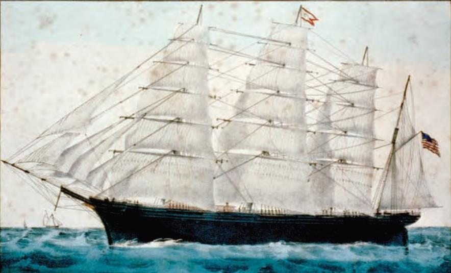 Clipper ships were the mainstays of the China trade during