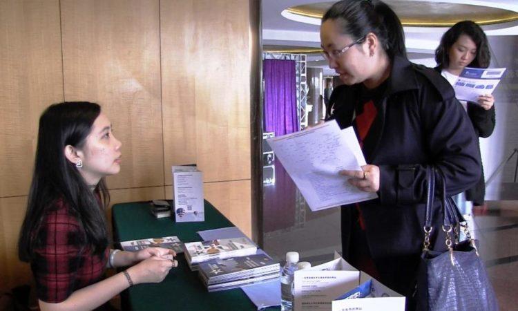 美国教育咨询中心在上海参加教育展