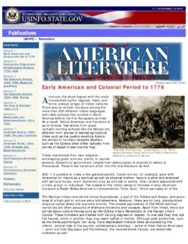 outline_of_american_literature | U S  Embassy & Consulates